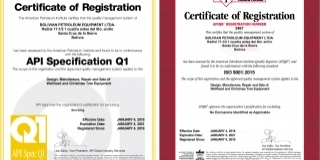 Recibimos certificación  API Q1 e ISO 9001:2015
